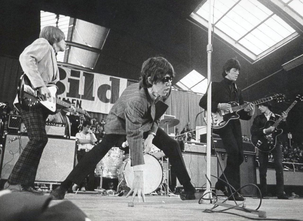 Rolling Stones Konzert in Stockholm, 1966, Foto:wikicommons
